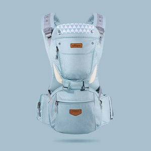Ergonomic Breathable Hipseat Baby Carrier Sky Blue gotolovely