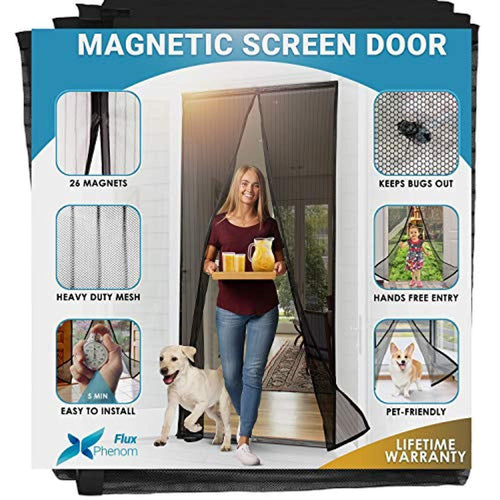 Fluxnom™ Reinforced Magnetic Mesh Insect Screen Door Flux Phenom