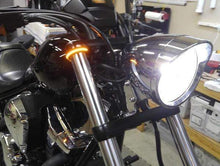 Load image into Gallery viewer, Fork Mount LED Turn Signals ,Double Color Transformation gotolovely