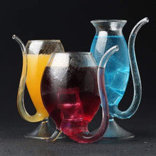 Load image into Gallery viewer, Glass Resistant Sucking  Cup  With Drinking Tube Straw All size(3 PCS) gotolovely