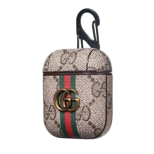 Gucci Style Marmont Leather Protective AirPods Case gotolovely
