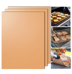 Hot Sale---Mintiml Grill Mat(3Pcs) Copper gotolovely