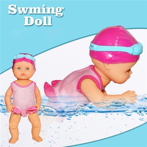 【Hot Sale】Waterproof Swimming Doll Pink gotolovely