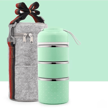 Load image into Gallery viewer, Insulation bucket THREE TIER +  BAG GREEN gotolovely