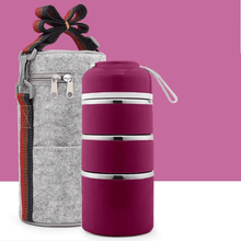 Load image into Gallery viewer, Insulation bucket THREE TIER + BAG PURPLE gotolovely