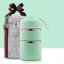 Load image into Gallery viewer, Insulation bucket TWO TIER + BAG GREEN gotolovely