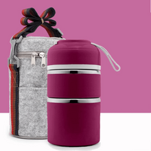 Load image into Gallery viewer, Insulation bucket TWO TIER +  BAG PURPLE gotolovely