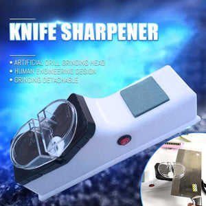 Knife Sharpener Electric Professional Kitchen White gotolovely