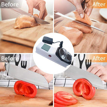 Load image into Gallery viewer, Knife Sharpener Electric Professional Kitchen White gotolovely
