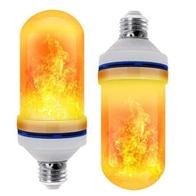 Load image into Gallery viewer, LED Flame Effect Flickering Fire Light Bulb with Gravity Sensor Yellow flame / 1pcs gotolovely