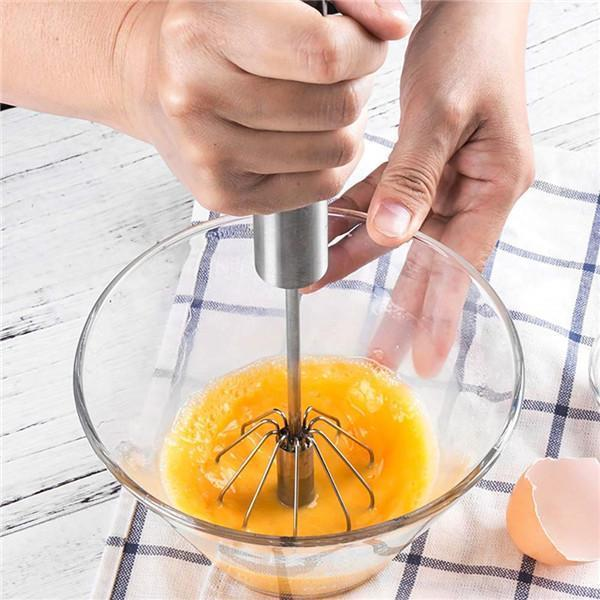 【 LIMITED SALE】Egg Beater Metal Rotate Semi-automatic Hand Stainless Steel (10 inches)BUY 1 AT HALF PRICE gotolovely