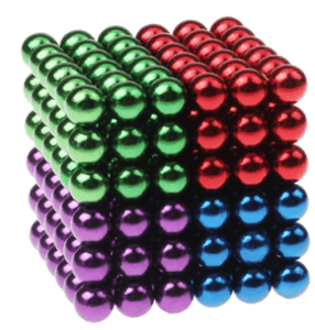 Magnetic Magic Cube - 3mm 4 Colors / 3mm gotolovely