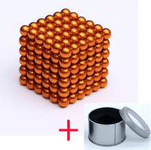 Load image into Gallery viewer, Magnetic Magic Cube - 3mm Orange / 3mm gotolovely