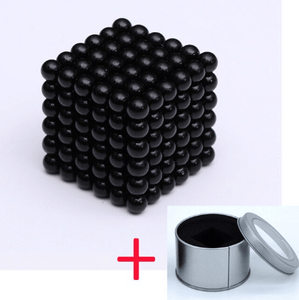 Magnetic Magic Cube - 3mm Pure Black / 3mm gotolovely