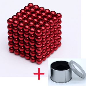 Magnetic Magic Cube - 3mm Red / 3mm gotolovely