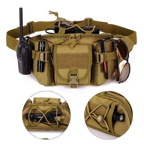 Military Crossbody Waist Bag Khaki gotolovely
