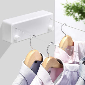 Modern Design Indoor/Outdoor Retractable Clothesline gotolovely