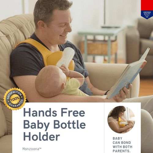 Monzoona™ Hands Free Baby Bottle Holder gotolovely