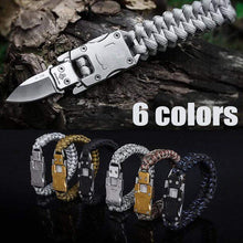Load image into Gallery viewer, Outdoor Survival Bracelet Grey gotolovely
