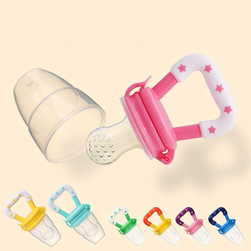 Pacifier biting bag baby food supplement feeding device S(babe 4months) / Three products and random colors gotolovely
