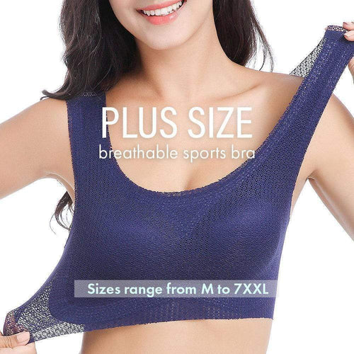 Plus Size Breathable Sports Bra gotolovely