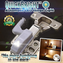Load image into Gallery viewer, QuickBright™ Automatic LED Hinge Light Warm White gotolovely