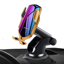 Load image into Gallery viewer, R2 Automatic Clamping Wireless Car Charger, 10W Fast Charging Mount Simple Fast Car Charger Gold - with Air Vent Clip and Dashboard Mount gotolovely