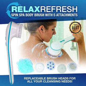 RelaxRefresh™️ Spin Spa Body Brush with 5 Attachments gotolovely