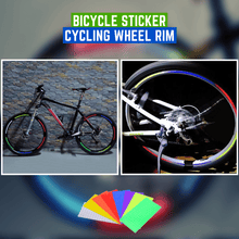 Load image into Gallery viewer, Safe Cycling - Bicycle Wheel Sticker (3 pcs set) Blue (3 pcs set) gotolovely