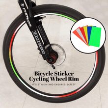 Load image into Gallery viewer, Safe Cycling - Bicycle Wheel Sticker (3 pcs set) Orange (3 pcs set) gotolovely