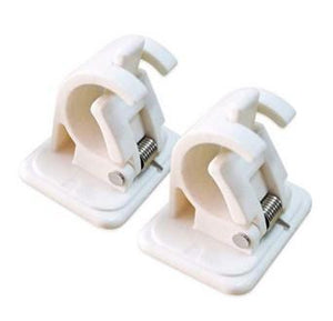 Self Adhesive Hooks Rod Bracket Pole Drapery Hook Holders -2PC gotolovely