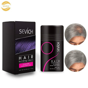 Sevich Unisex Hair Fibers - 5 Seconds Conceals Loss Hair Rebuilding, Nature Keratin Fibers for Thinning Hair, 25g - Light Brown 12g / grey gotolovely