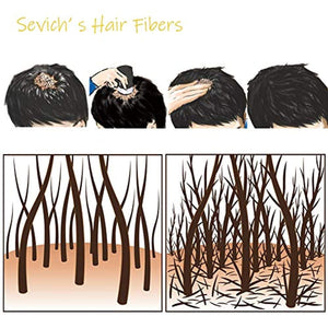 Sevich Unisex Hair Fibers - 5 Seconds Conceals Loss Hair Rebuilding, Nature Keratin Fibers for Thinning Hair, 25g - Light Brown gotolovely