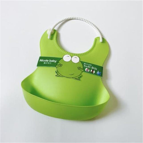 Silicone Baby Bibs Emerald Green gotolovely