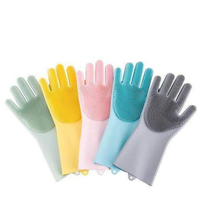 Silicone Cleaning Gloves(1 Pair) Green gotolovely
