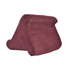 Load image into Gallery viewer, Tablet Pillow Holder Wine Red gotolovely