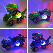 Load image into Gallery viewer, Transforming Dinosaur LED Car gotolovely