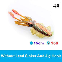 Load image into Gallery viewer, UV Luminous Realistic Squid Soft Lures gotolovely