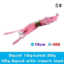 Load image into Gallery viewer, UV Luminous Realistic Squid Soft Lures 5#3Pcs / Without lead gotolovely