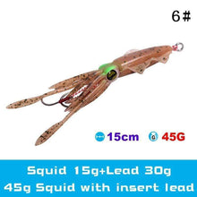 Load image into Gallery viewer, UV Luminous Realistic Squid Soft Lures 6#3Pcs / Without lead gotolovely