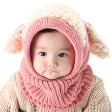 Load image into Gallery viewer, Warm Cozy Bunny Scarf-Beanie Pink gotolovely