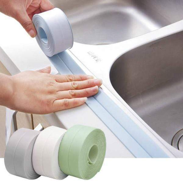Waterproof Repair Tape for Bathtub Bathroom Kitchen 3.2m x 3.8cm(Large) / White gotolovely