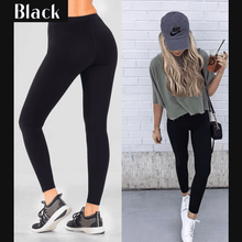 Load image into Gallery viewer, Winter Fleece Lined Stretchy Leggings Black gotolovely