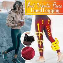 Load image into Gallery viewer, Winter Fleece Lined Stretchy Leggings Dark Green gotolovely