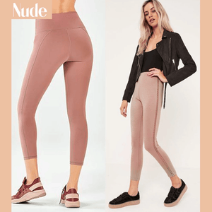 Winter Fleece Lined Stretchy Leggings Nude gotolovely