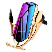 Load image into Gallery viewer, Wireless Car Charger Gold   -  with Air Vent Clip gotolovely