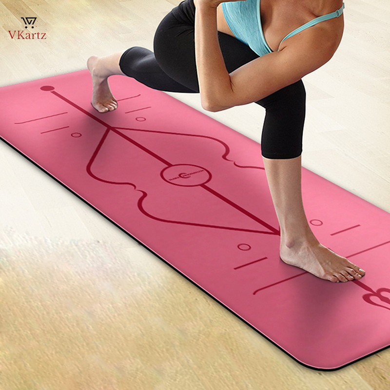 Biodegradable Yoga Mat (Alignment Marked- Aum)