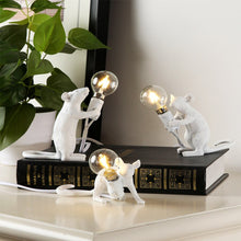 Load image into Gallery viewer, Modern Mouse Lamp Sitting Table Desk Lamp _ SELETTI _ White Combo