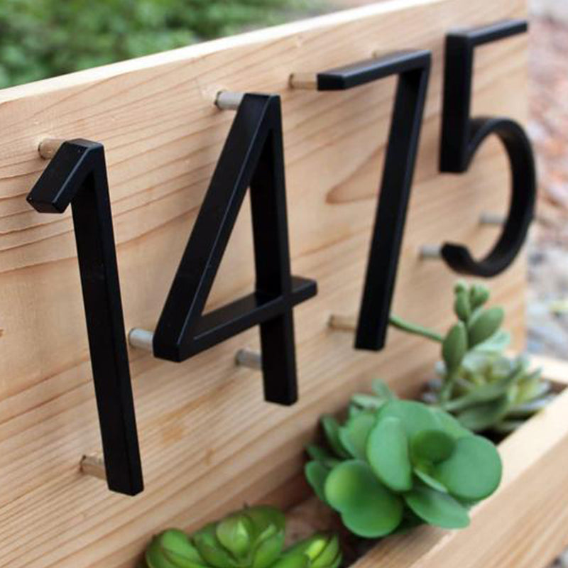 Modern Art Deco Floating or Flat House Numbers