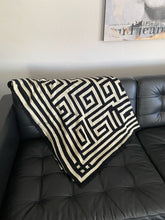 Load image into Gallery viewer, Large Cotton Knitted Throw Sofa Blanket